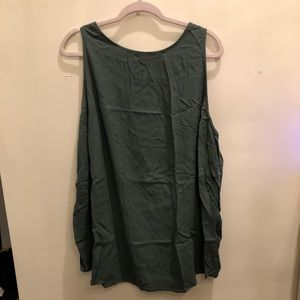 Old Navy - Olive Green High Neck Sleeveless Top